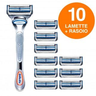 Gillette SkinGuard Sensitive Rasoio Pelli Sensibili Uomo con 10 Lamette