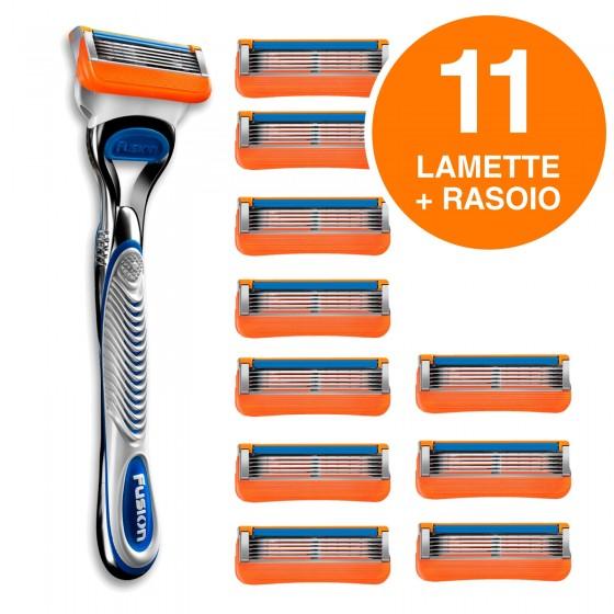 Gillette Fusion Rasoio Uomo 5 Lame con 11 Lamette