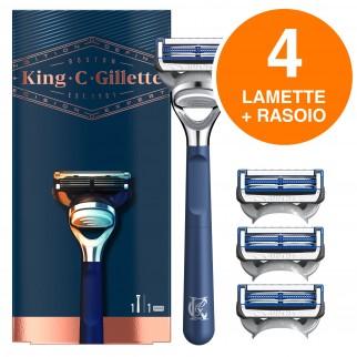 King C Gillette Rasoio per il Collo con 3 Lame di Ricambio
