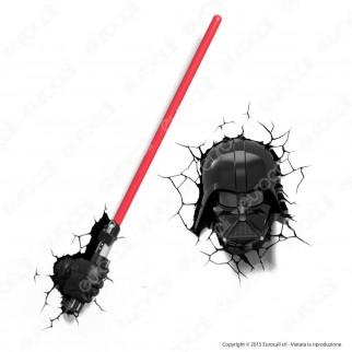 3D Light Fx Star Wars Spada Laser di Darth Vader - Lampada LED a Batteria