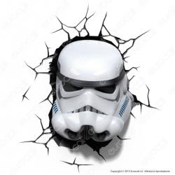 3D Light Fx Star Wars Stormtrooper - Lampada LED a Batteria Guerre Stellari