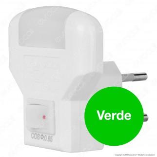 Wiva Punto Luce Notturno LED Point con Interruttore Luce Rossa - mod. 31501305 / 31501306