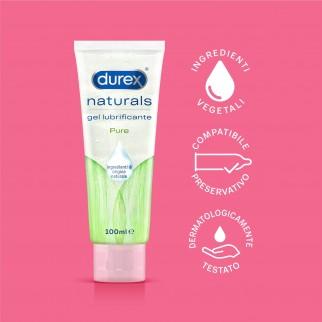 Durex Naturals Pleasure Gel Lubrificante Intimo Ingredienti 100% Naturali 100ml
