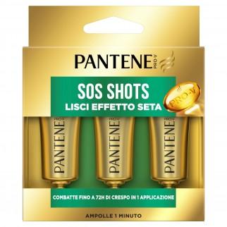 Pantene Pro-V Lisci Effetto Seta Sos Shots Maschera per Capelli Deboli e Danneggiati - 3 Flaconi da 15ml