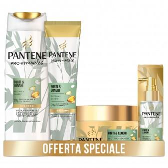 Pantene Pro-V Miracles Forti & Lunghi Kit Trattamento Completo Anticaduta Shampoo Balsamo Maschera Lozione - 4 Prodotti