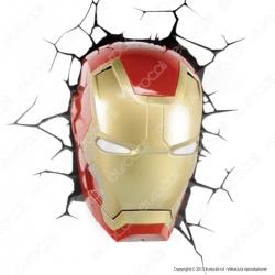 3D Light Fx Marvel Avengers Ironman - Lampada LED a Batteria