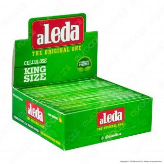 PROV-A00175014 - Cartine Aleda King Size Slim Lunghe Trasparenti 100% Cellulosa - Scatola da 20 Libretti