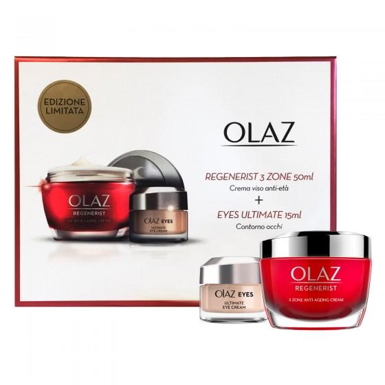 Olaz Kit Edizione Limitata Crema Viso Regenerist 3 Zone e Contorno Occhi Eyes Ultimate Cream