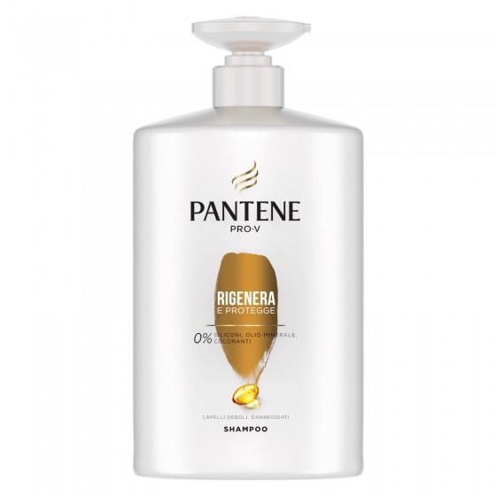 Pantene Pro-V Rigenera e Protegge Shampoo per Capelli Danneggiati - Flacone da 1 Litro
