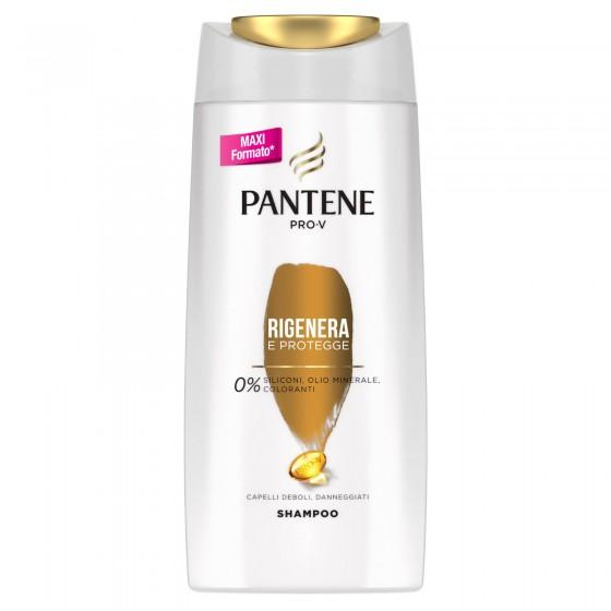 Pantene Pro-V Rigenera e Protegge Shampoo per Capelli Deboli e Danneggiati - Flacone da 650ml