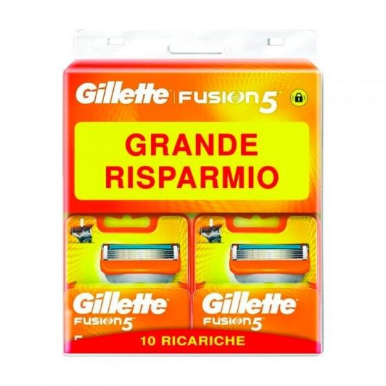Gillette Fusion5 Lamette di Ricambio con 5 Lame - Confezioni con 10 Pezzi