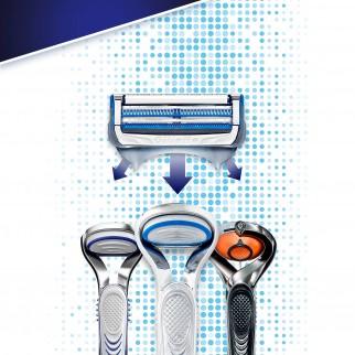 Gillette SkinGuard Sensitive Rasoio per Pelle Sensibile - Confezione con Rasoio e 11 Ricariche