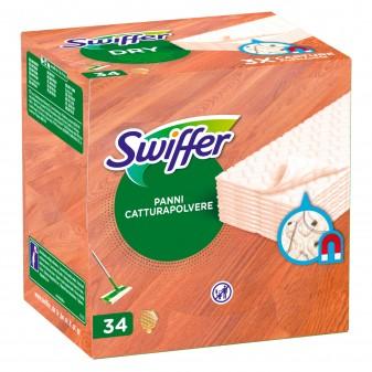 Swiffer Dry Parquet Panni Catturapolvere per Superfici in Legno - Confezione da 34 Ricariche