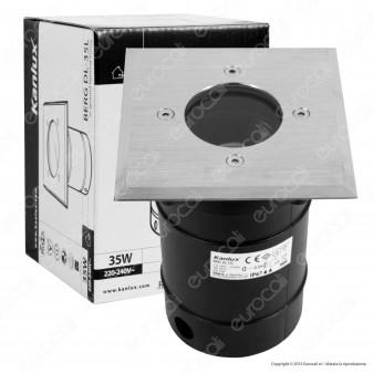 Kanlux BERG DL-35L Portalampada Quadrato da Interramento per Lampadine GU10
