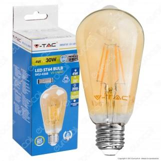 V-Tac VT-1964D Lampadina LED E27 4W Bulb ST64 Filamento Dimmerabile