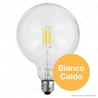 V-Tac VT-1994D Lampadina LED E27 4W Globo G125 Filamento Dimmerabile