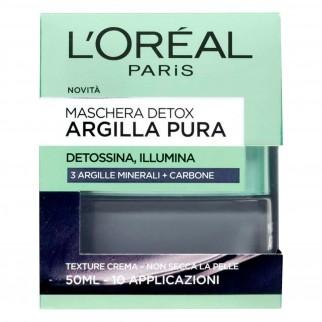 L'Oréal Paris Argilla Pura Maschera Viso Detox con Carbone