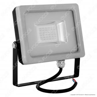 V-Tac VT-4820 Faretto LED SMD 20W Ultra Sottile da Esterno Colore Grigio e Nero Luce Colorata - SKU 5719 / 5760
