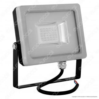 V-Tac VT-4820 Faretto LED SMD 20W Ultra Sottile da Esterno Colore Grigio e Nero Luce Colorata