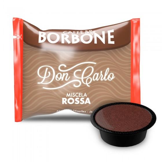 50 Capsule Caffè Borbone Don Carlo Miscela Rossa - Cialde Compatibili Lavazza A Modo Mio
