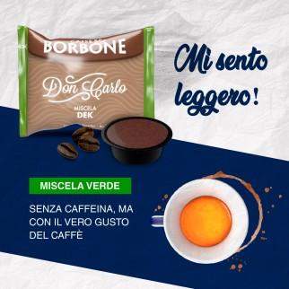 50 Capsule Caffè Borbone Don Carlo Decaffeinato - Cialde Compatibili Lavazza A Modo Mio