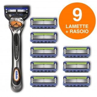 Gillette Fusion ProGlide Rasoio Uomo Con Tecnologia FlexBall con 8 Ricariche