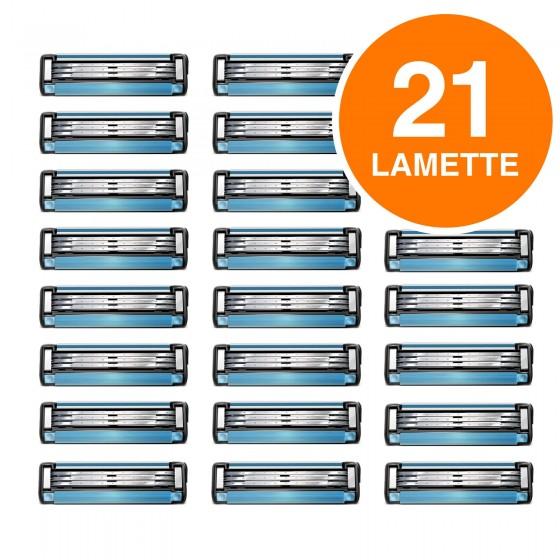 Gillette Mach3 Lamette di Ricambio con 3 Lame per Rasoio Uomo - Confezione da 21