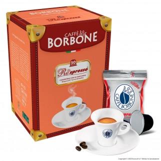 50 Capsule Caffè Borbone Respresso Miscela Rossa - Cialde Compatibili Nespresso