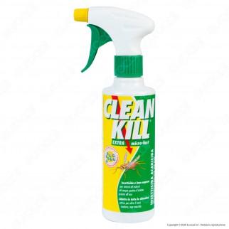 Clean Kill Insetticida Extra Mirco-Fast No Gas A Base Acquosa - Flacone Spray da 375ml