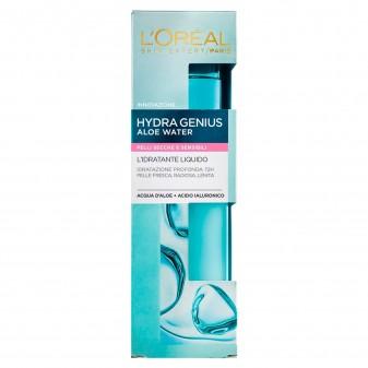 L'Oréal Paris Hydra Genius Aloe Water Crema Viso Idratante con Acido Ialuronico