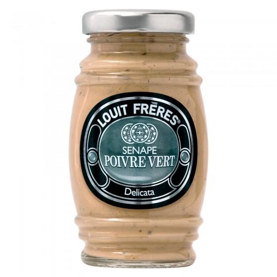 Louit Frères Salsa Senape Poivre Vert Delicata - Vasetto da 130g