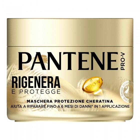 Pantene Pro-V Rigenera e Protegge Maschera Protezione Cheratina per Capelli Deboli e Danneggiati - Barattolo da 300ml