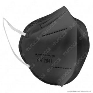 Sicura Protection 50 Mascherine Protettive Colorate Monouso con Fattore di Protezione Certificato FFP2 NR in TNT