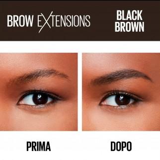 Maybelline New York Brow Extensions Matita Cremosa per Sopracciglia Colore 07 Black Brown