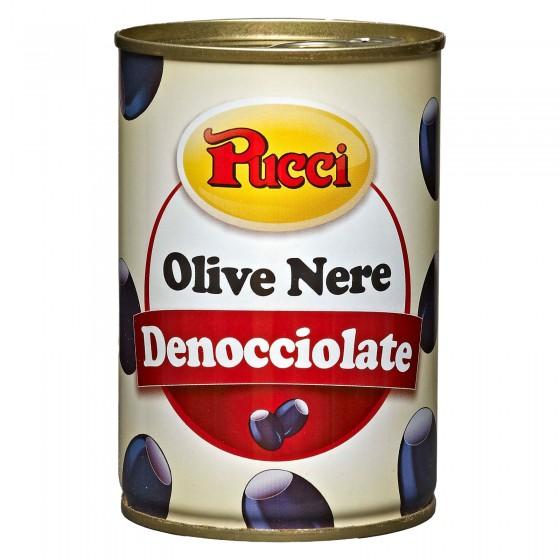 Pucci Olive Nere Denocciolate in Salamoia - Lattina da 400g
