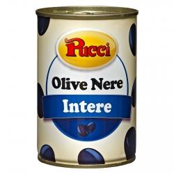 Pucci Olive Nere Intere in Salamoia - Lattina da 400g