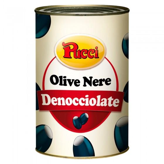 Pucci Olive Nere Denocciolate in Salamoia - Lattina da 4,1kg