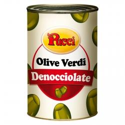 Pucci Olive Verdi Denocciolate in Salamoia - Latta da 4,1Kg