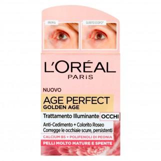 L'Oréal Paris Age Perfect Golden Age Trattamento Illuminante Occhi con Polifenoli di Peonia