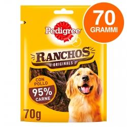 Pedigree Ranchos Originals Snack per Cani con 95% di Carne al Gusto di Pollo - Confezione da 70g