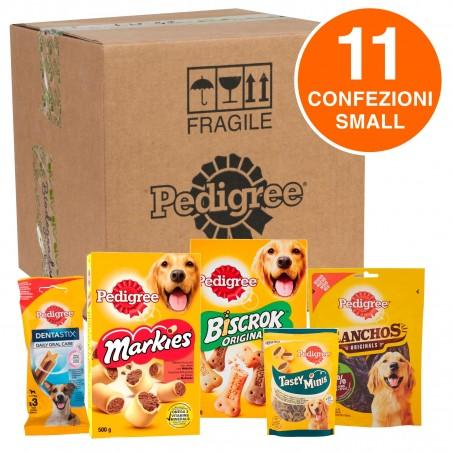 Pedigree Kit Snack e Biscotti Misti per Cani di Taglia Piccola - Scatola con 11 Confezioni