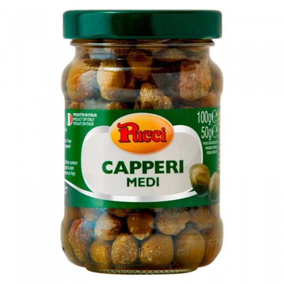 Pucci Capperi Medi Sottaceto - Vasetto da 100g