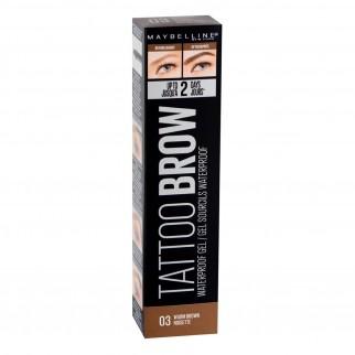 Maybelline New York Tattoo Brow Peel-Off Gel Waterproof per Sopracciglia Colore 03 Warm Brown