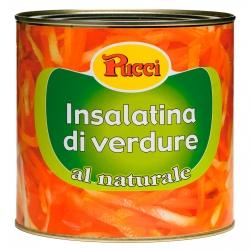 Pucci Insalatina di Verdure al Naturale - Latta da 2,6Kg