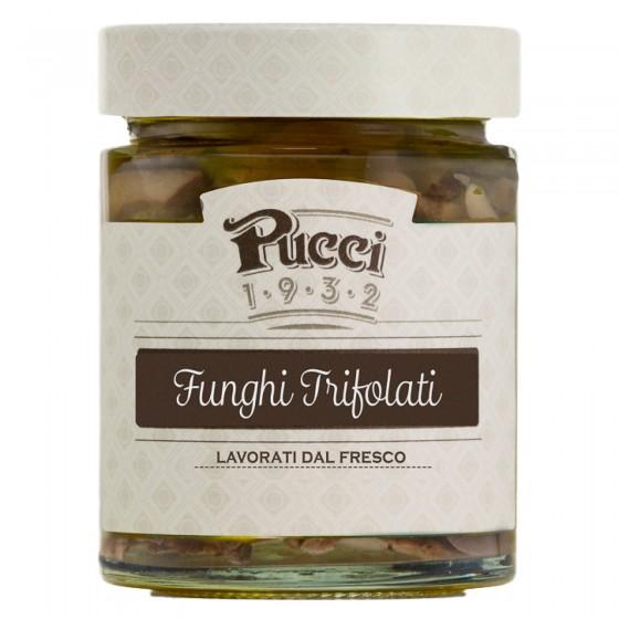 Pucci Funghi Trifolati Lavorati da Fresco - Vasetto da 200g