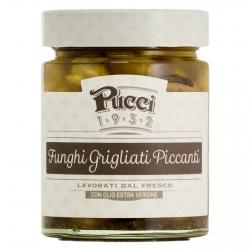 Pucci Funghi Grigliati Piccanti con Olio Extra Vergine di Oliva - Vasetto da 200g