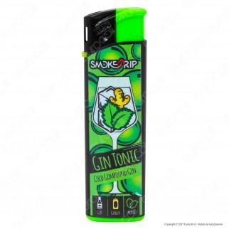 SmokeTrip Accendini Elettronici Ricaricabili Fantasia Gin Tonic - Box da 50 Accendini