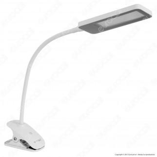 V-Tac VT-1008 Lampada da Tavolo LED con Clip 7W Dimmerabile