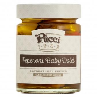 Pucci Peperoni Baby Dolci con Olio Extra Vergine di Oliva - Vasetto da 200g