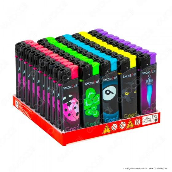 SmokeTrip Accendini Elettronici Ricaricabili Fantasia Sfiga - Box da 50 Accendini